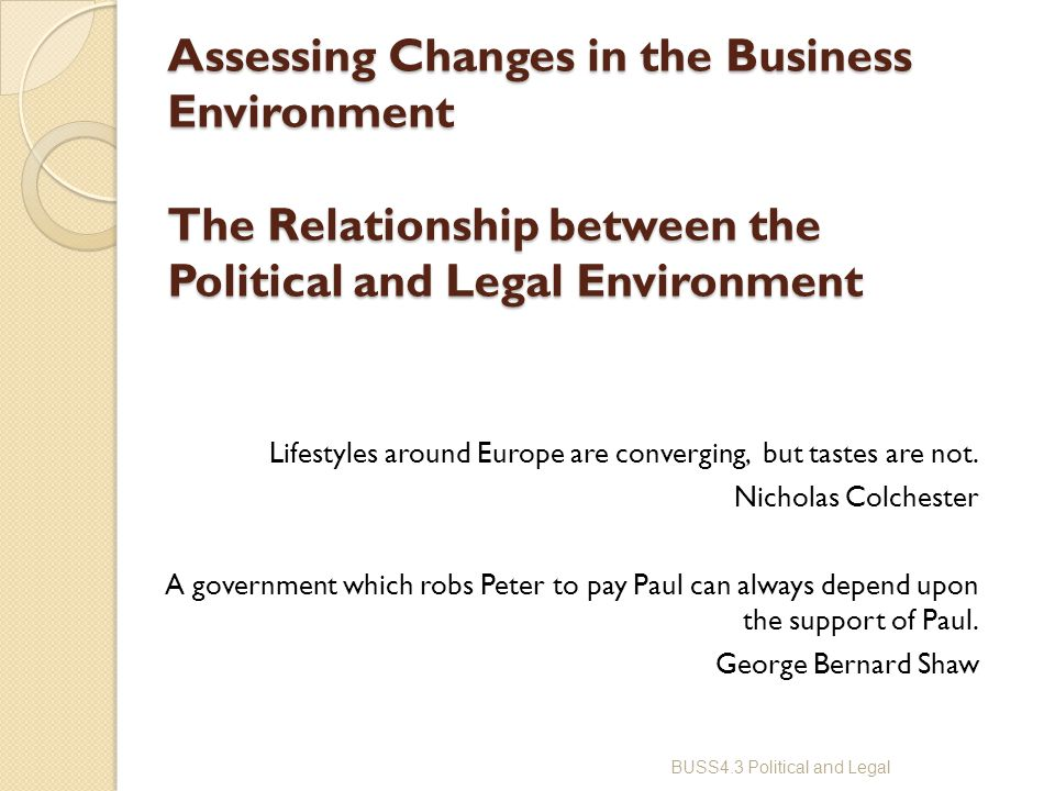 change in the business environment essay Implementing strategic change in a shifts in the environment can compel health care phd, is professor, leavey school of business, santa clara.