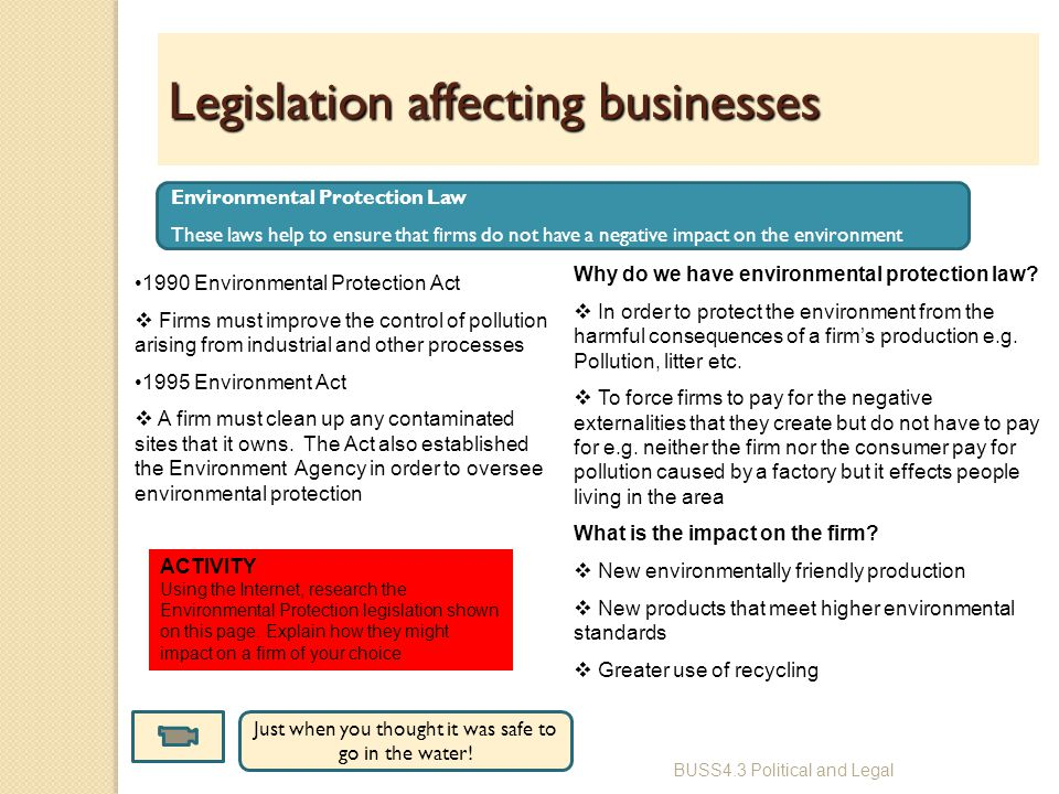 legislation that affect employees in a business environment Learn how to address employment law issues at work,  guidance on the employment legislation governing  guidance on the law protecting employees when a business.
