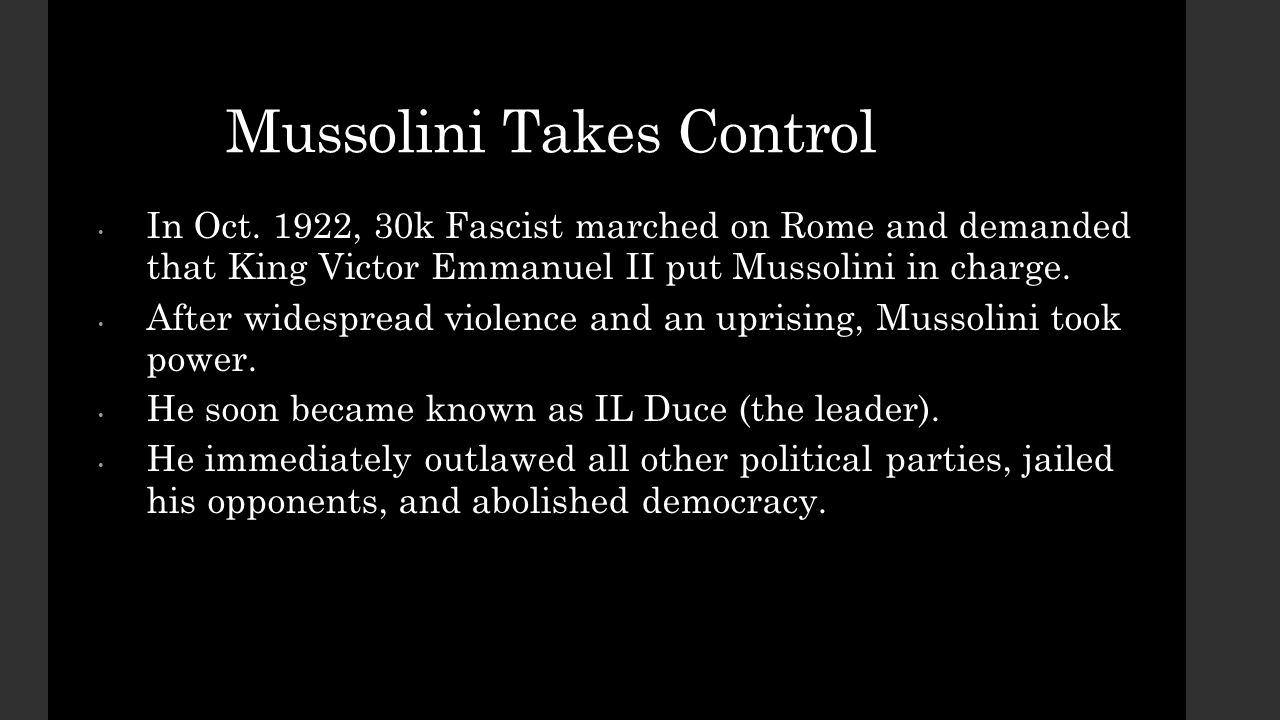 how mussolini attempted to revive his fasci movement in 1919 Compare mussolini s rise to power and totalitarian state in italy  1919-22 mussolini and the fascists  and benito mussolini both attempted their rises to.