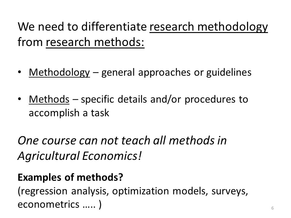 examples of methodology