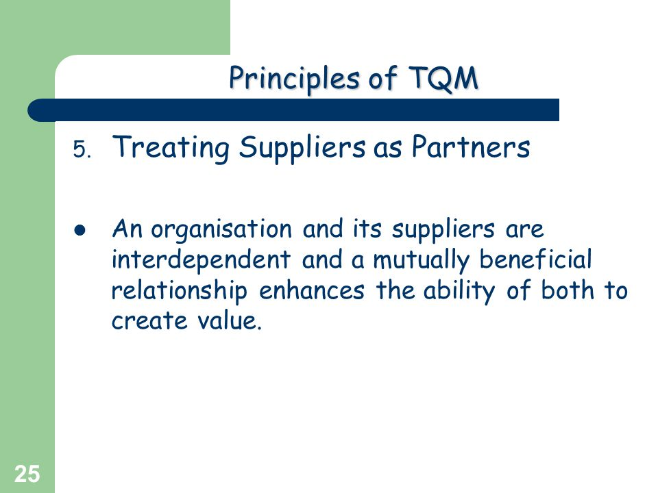 Treating Suppliers as Partners
