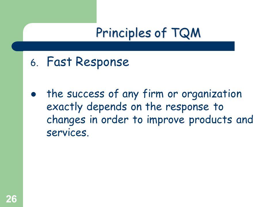 Principles of TQM Fast Response
