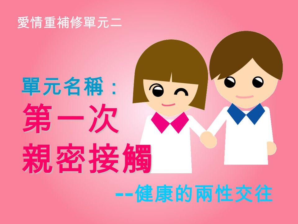 單元名稱: 第一次 親密接觸 --健康的兩性交往 愛情重補修單元二