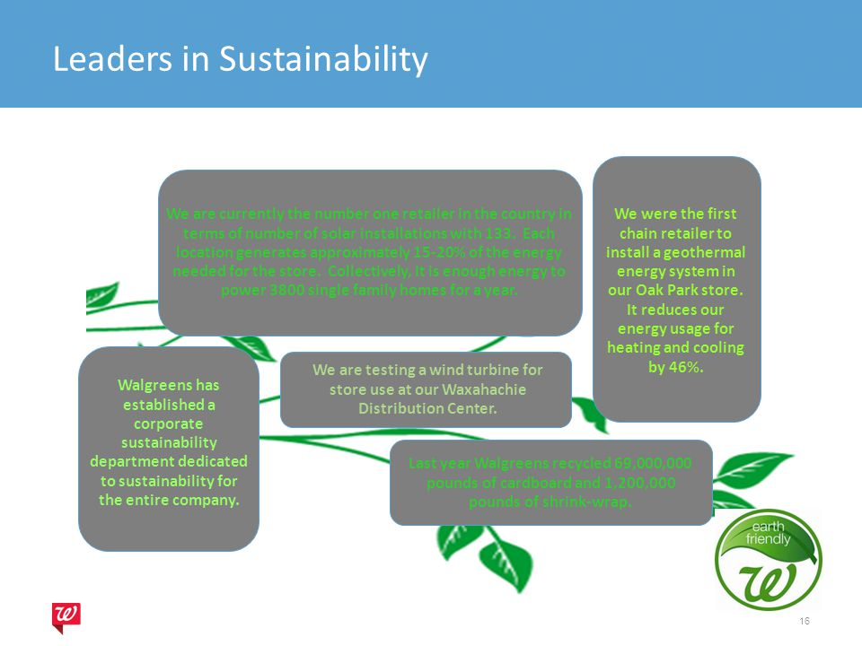 Leaders in Sustainability