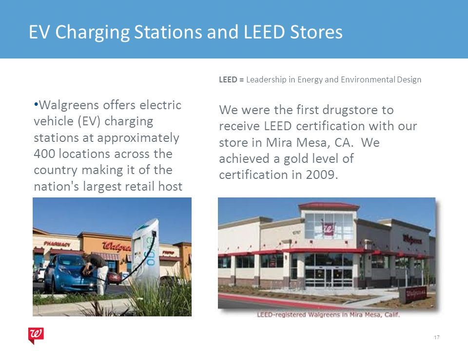 EV Charging Stations and LEED Stores
