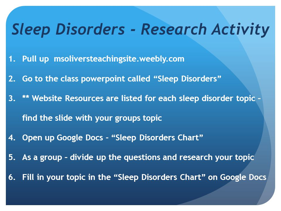 a research on sleep apnea disorder Sleep disorder trends: sleep apnea leg cramps  sleep apnea disrupts how your body takes in oxygen, which makes it hard for your brain to control how blood flows in your arteries and the brain .