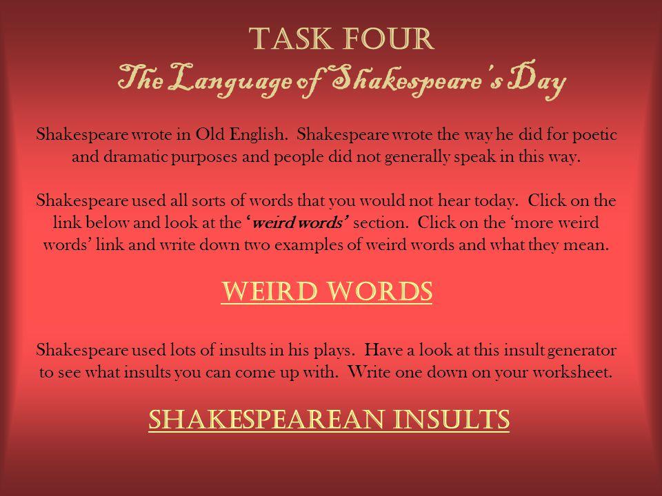 William Shakespeare WEBQUEST challenge ppt download – Shakespeare Language Worksheet