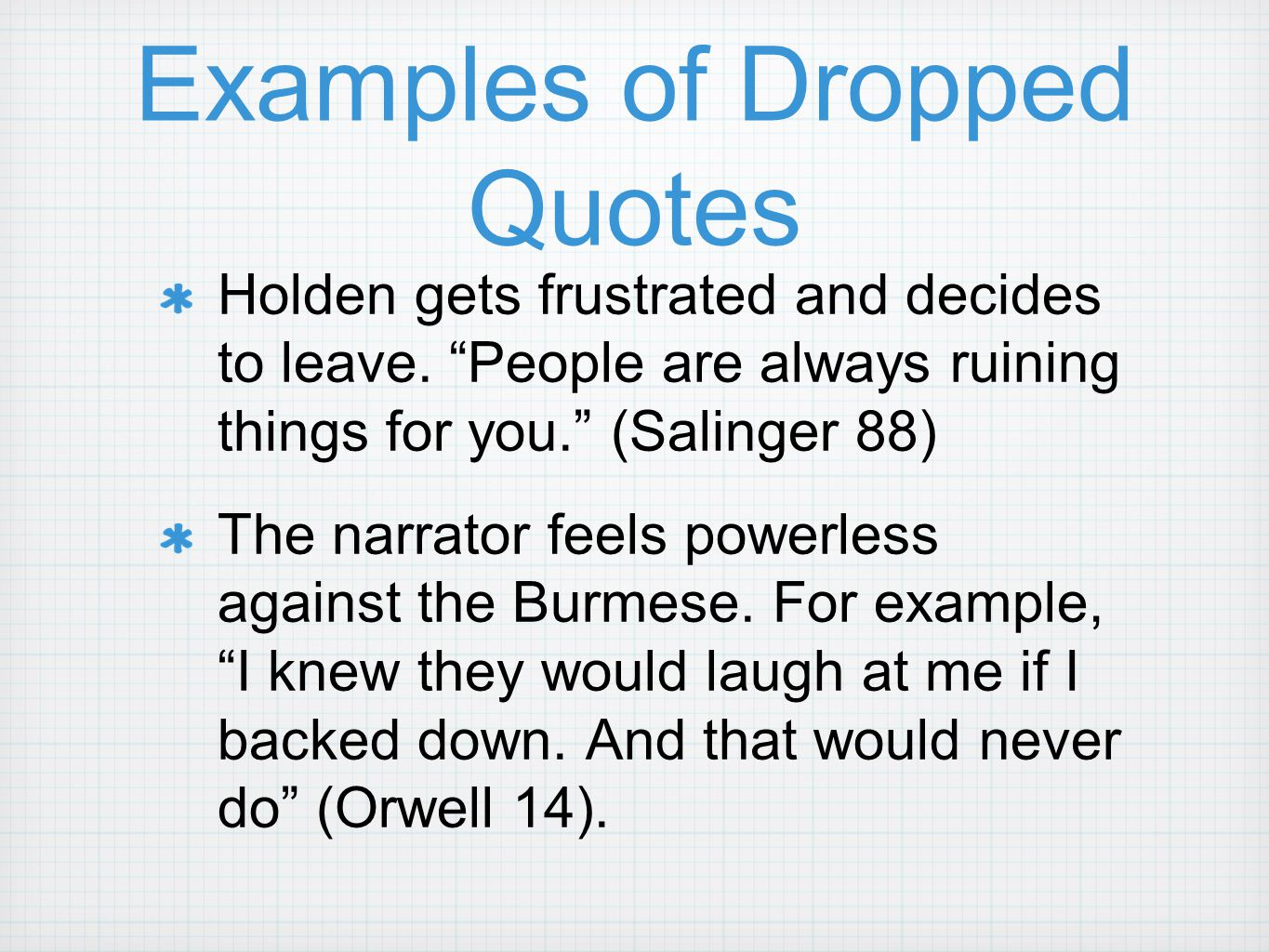 Lead Ins For Quotes Integrating Quotes How To Do It. Ppt Video Online Download