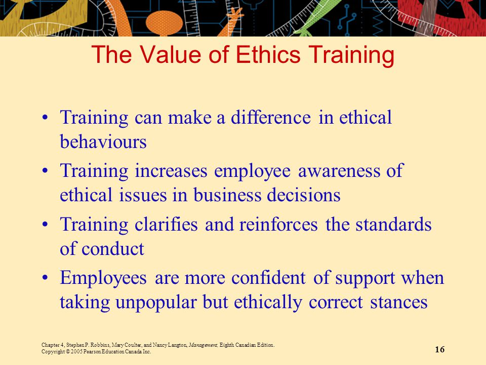 The Value of Ethics Training