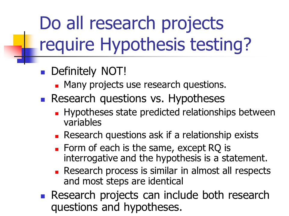 Main Difference – Hypothesis vs Research Question