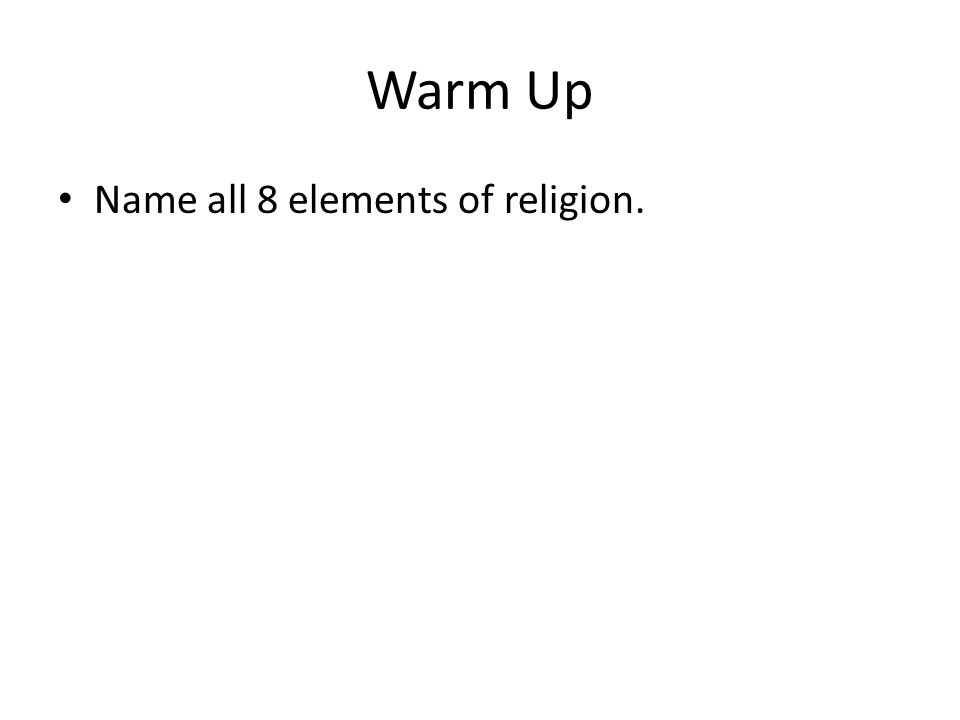 What Are The Basic Elements Of Religion