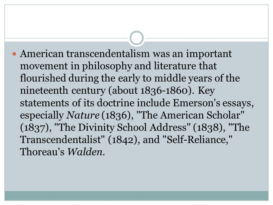 american literature introduction ppt video online 14 american transcendentalism