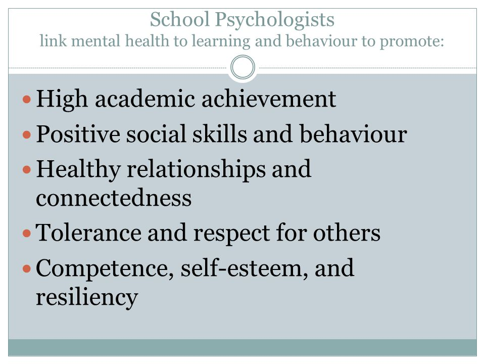 High academic achievement Positive social skills and behaviour