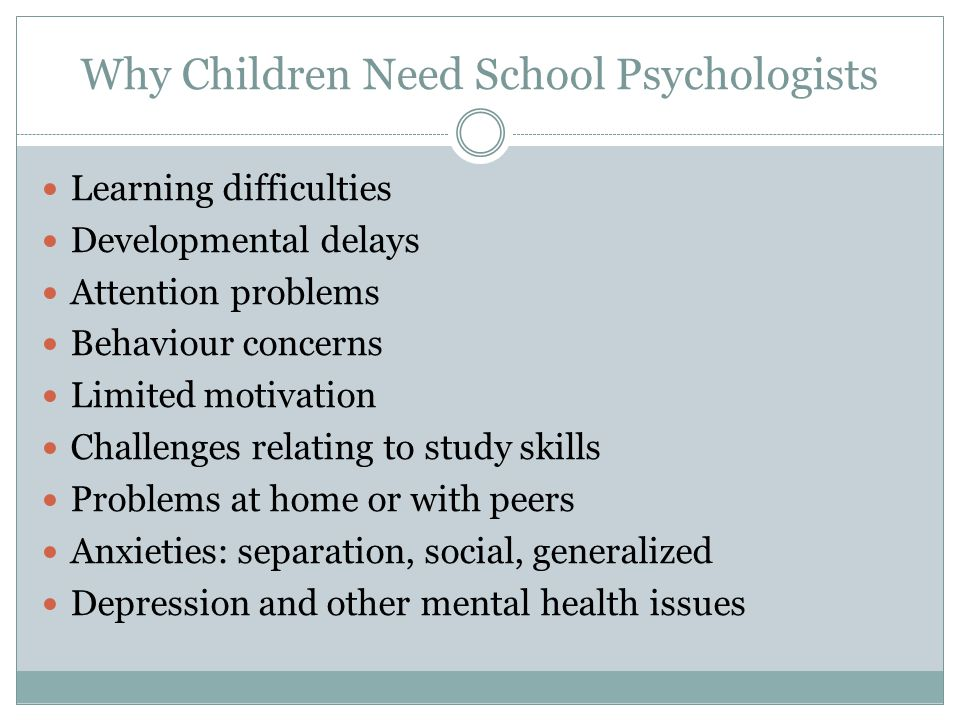 Why Children Need School Psychologists