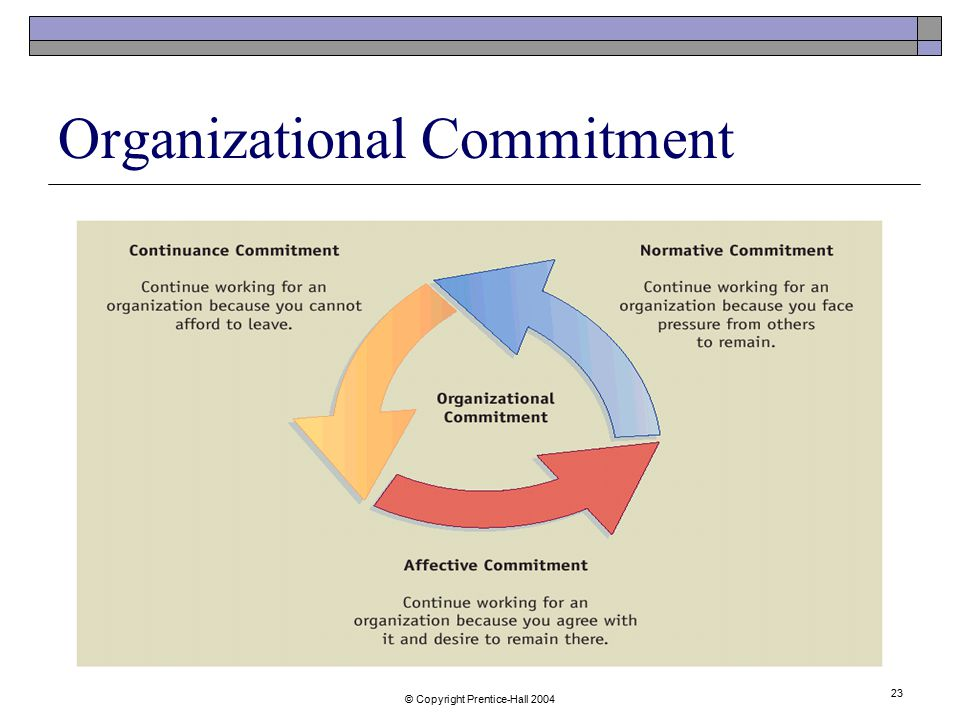 an overview of organisational commitment 79 job satisfaction and organisational commitment: a theoretical overview bullock (1952) views job satisfaction as an attitude which results from a.