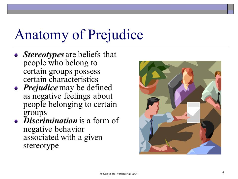 Anatomy of prejudice