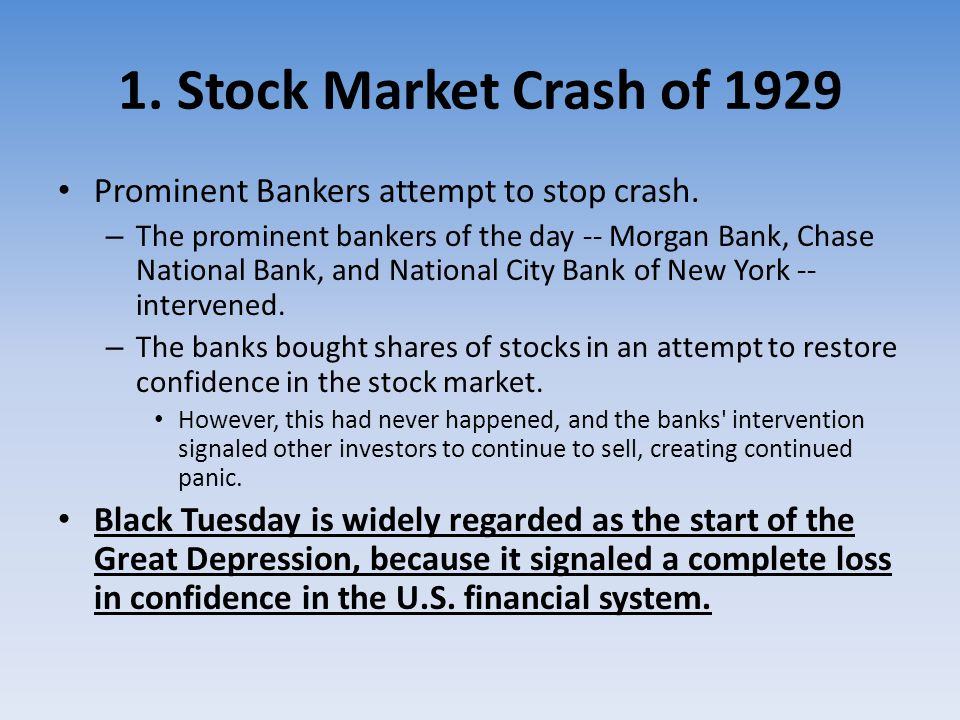 """stock market crash of 1929 essay Free essay: """"the only thing we have to fear is fear itself, nameless  people  speculate that the stock market crash of 1929 was the main cause of the great."""