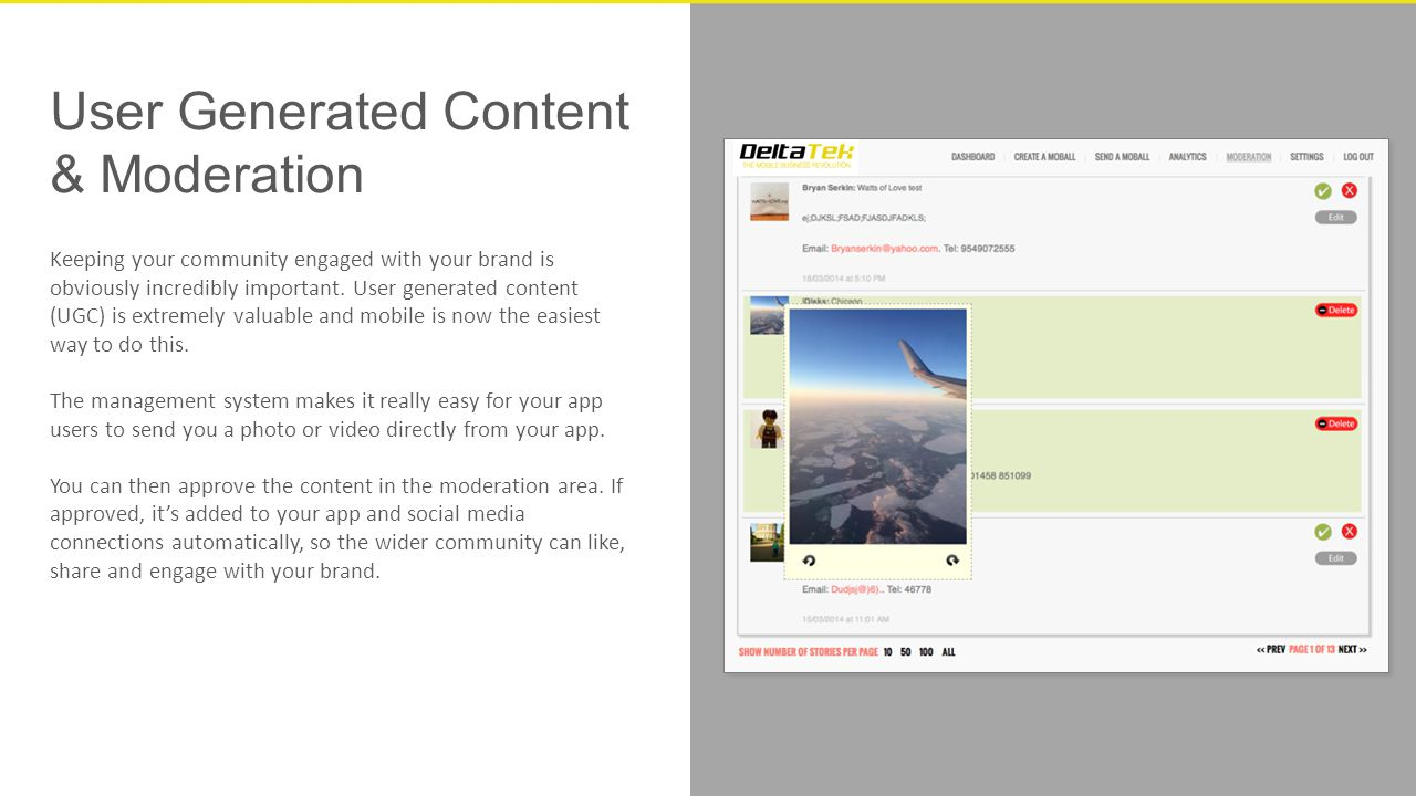 User Generated Content & Moderation