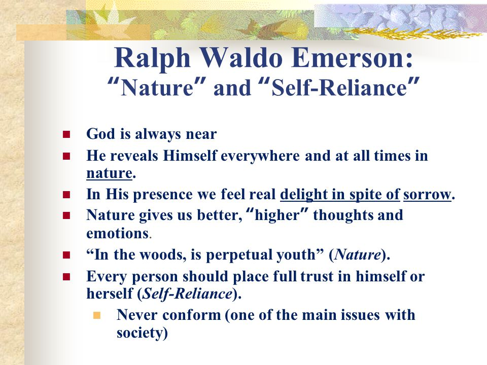 what is self reliance by emerson about