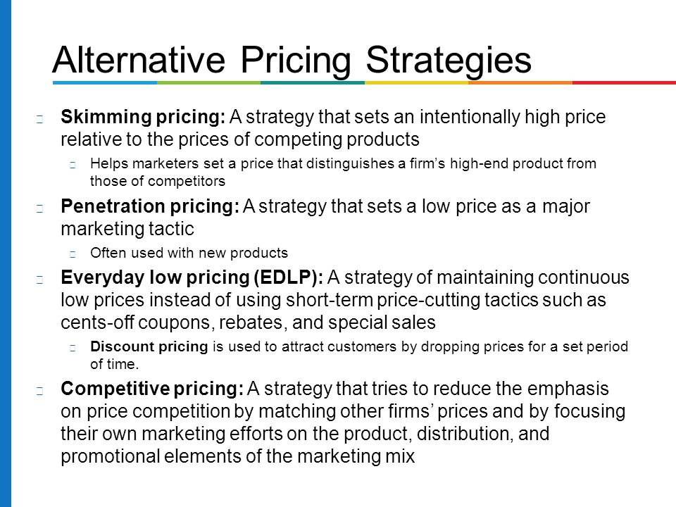 difference between skimming penetration pricing strategy This is called new product pricing when companies bring out a new product, they face the challenge of setting prices for the very first time two new product pricing strategies are available: price-skimming and market-penetration pricing let's learn more about these two new product pricing strategies.