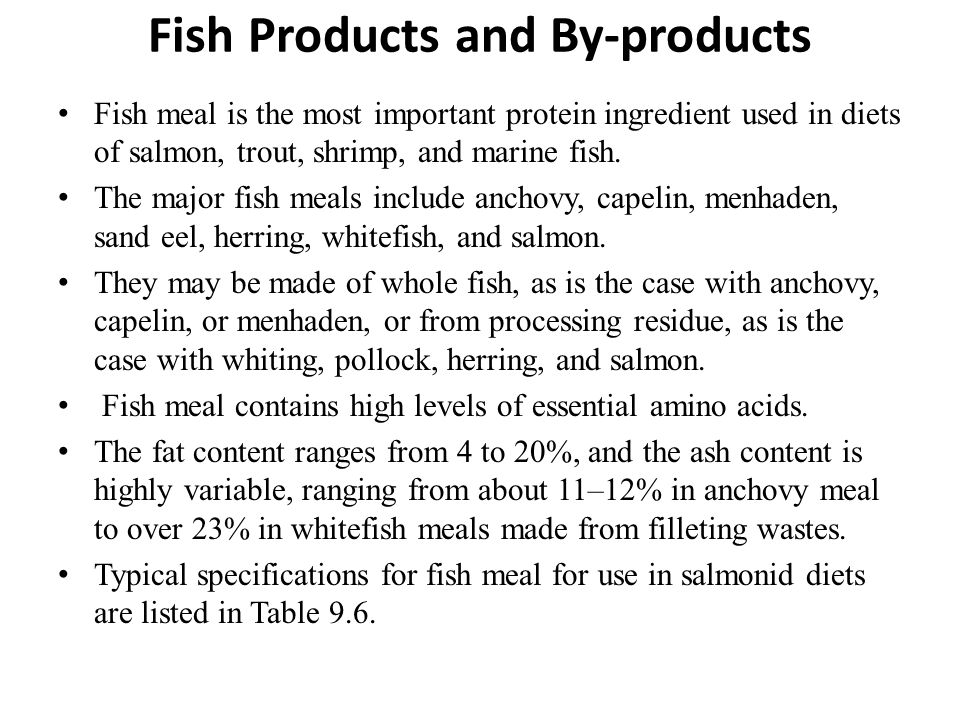 Fish Products and By-products