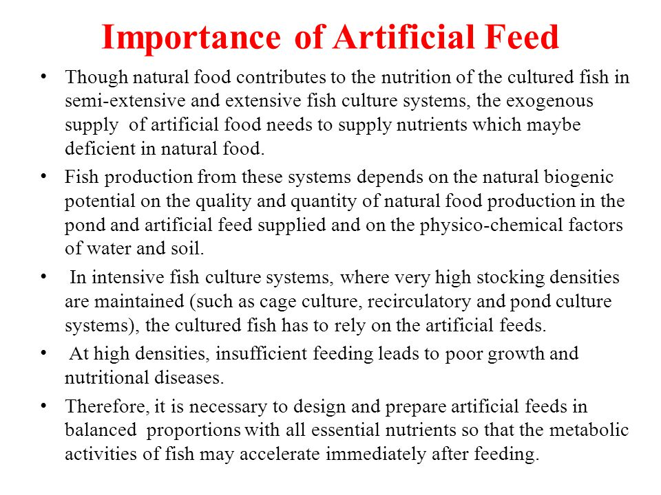 Importance of Artificial Feed