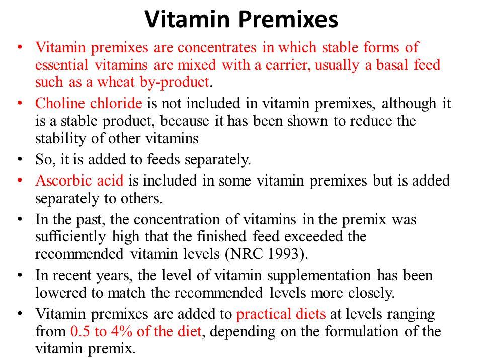 Vitamin Premixes