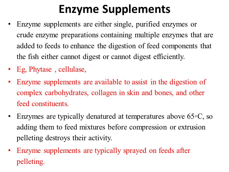 Enzyme Supplements