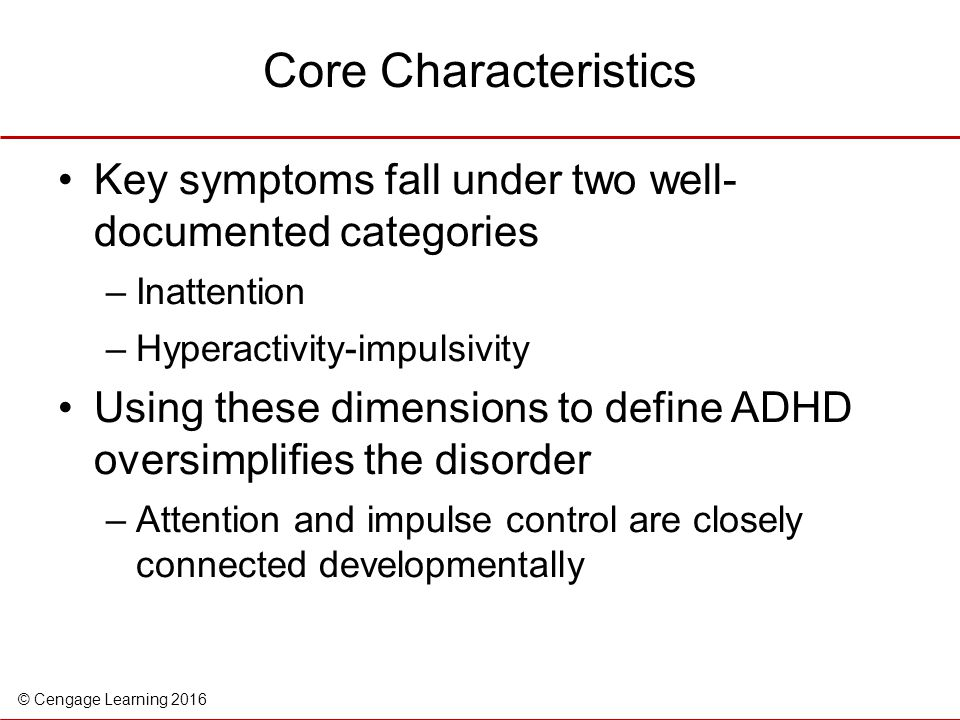 the influence of genes on the development of symptoms of attention deficit hyperactivity disorder The essential feature of attention-deficit/hyperactivity disorder in the uncommon cases where there is a known genetic cause influences on adhd symptoms.