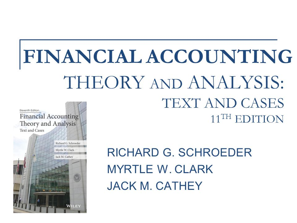 financial accounting theory and analysis pdf