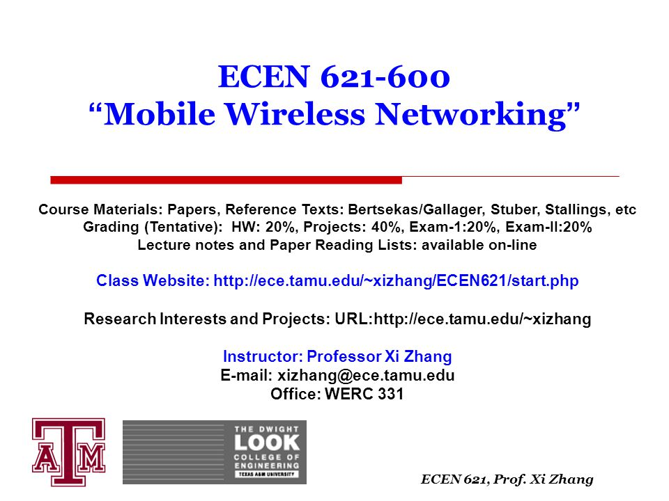 ECEN Mobile Wireless Networking
