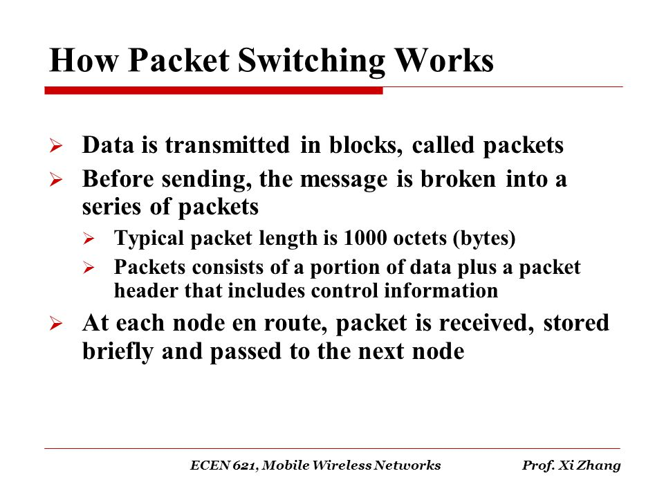 How Packet Switching Works