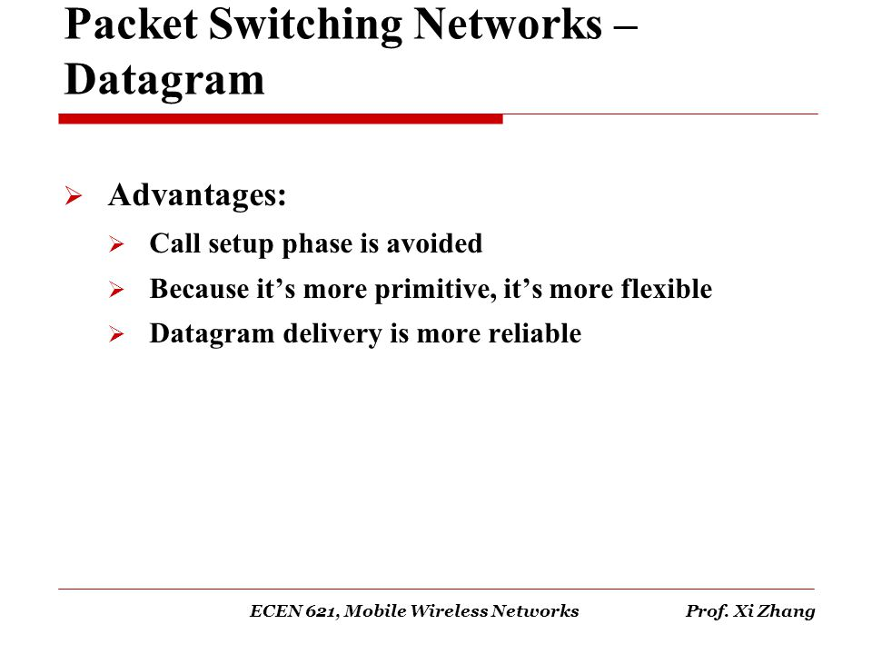 Packet Switching Networks – Datagram