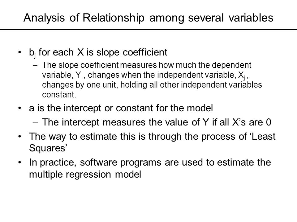 an overview of the techniques of modeling and analyzing multiple variables used in the regression an Tagged as: anova, linear regression, regression model, statistical modeling related posts why anova is really a linear regression, despite the difference in notation.