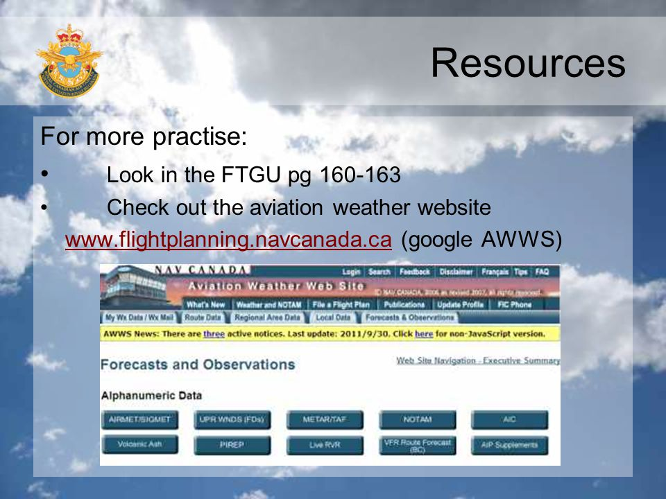 Resources For more practise: Look in the FTGU pg