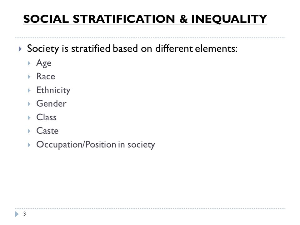 race gender and class stratification response Each area of the reading response (political economy, race,  describe any movements or organizations involving gender  class / social stratification – class.