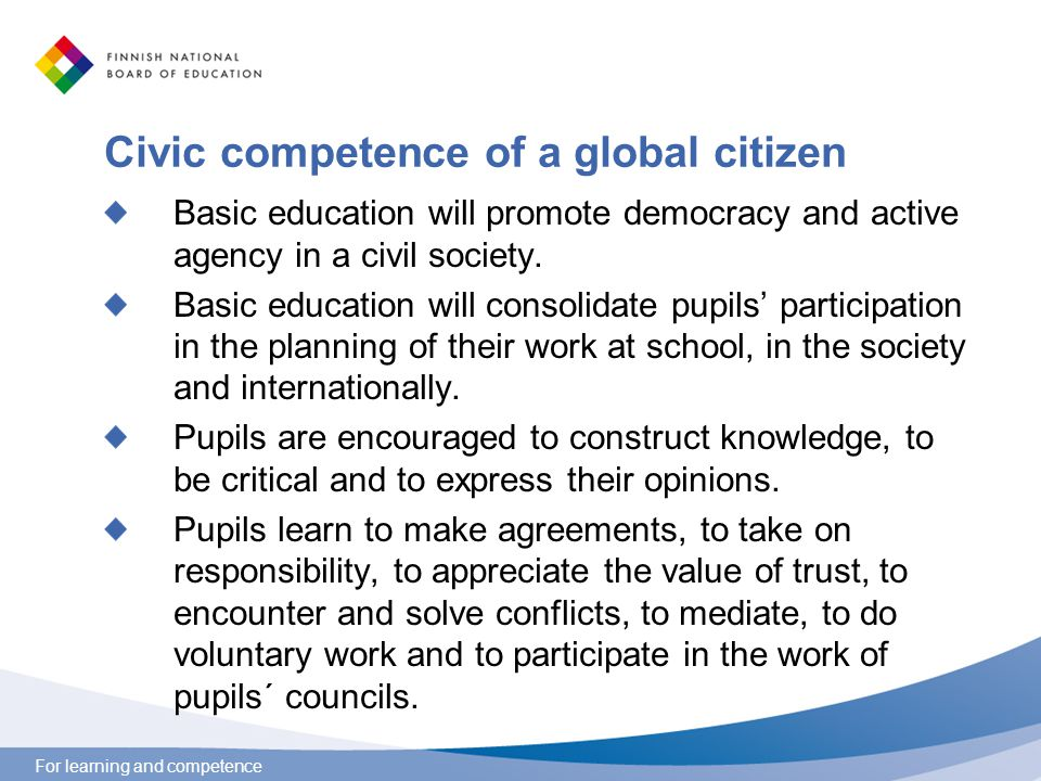 an analysis of citizens competence in a democracy Contextual analysis report  civic competence and political  associative life in the balance of democracy in this regard, citizens need to participate in.