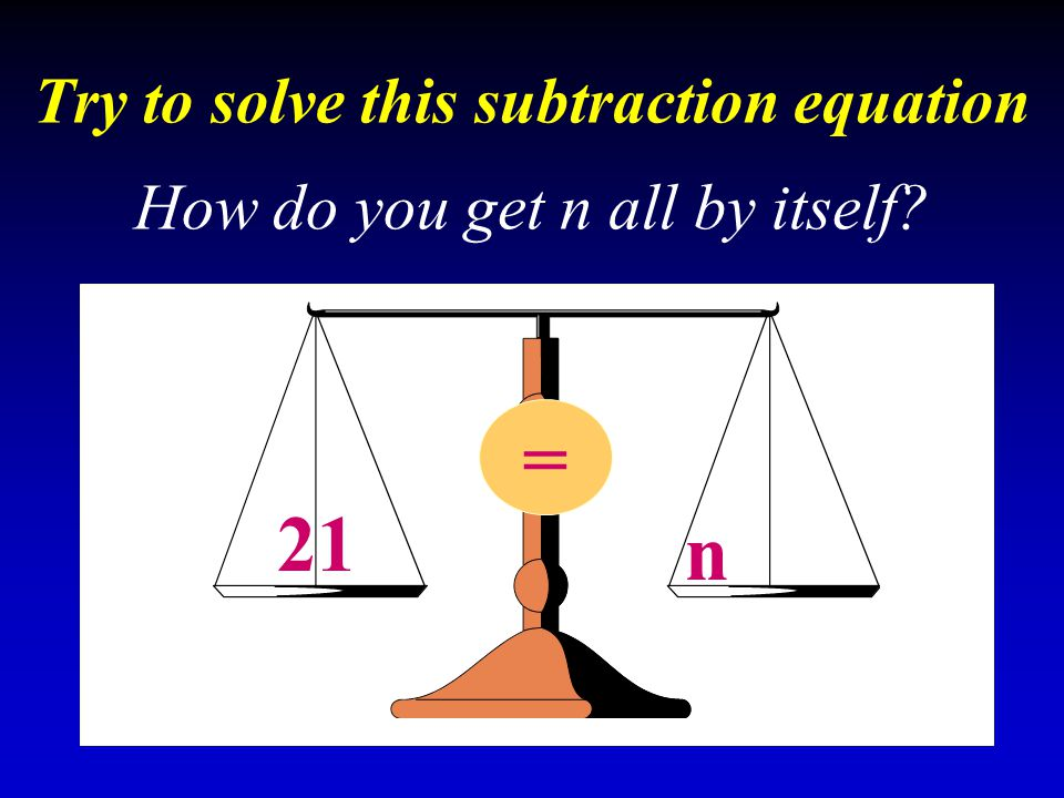 Try to solve this subtraction equation