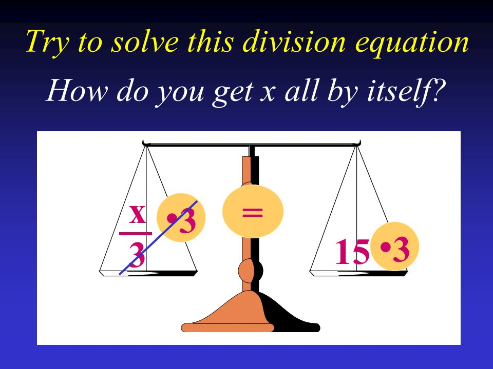 Try to solve this division equation