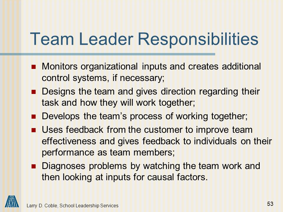relationship and responsibilities in a team