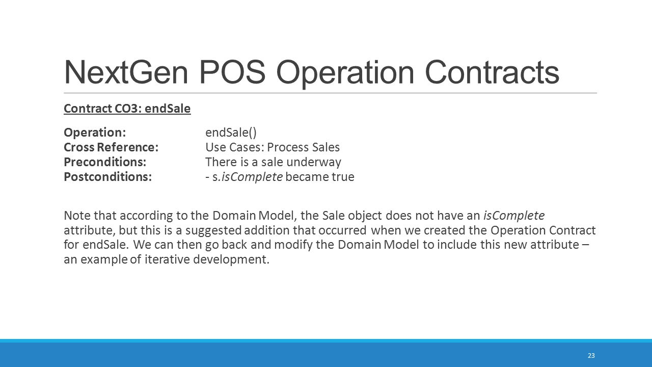 NextGen POS Operation Contracts