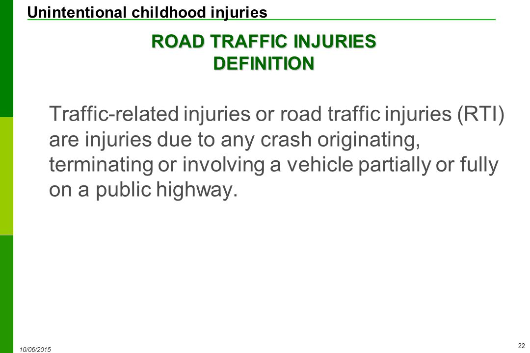 road traffic related injuries Pattern of injury in motor vehicle accidents author(s) douglas bowley frcs  but injuries due to road traffic related trauma are worsening each year.
