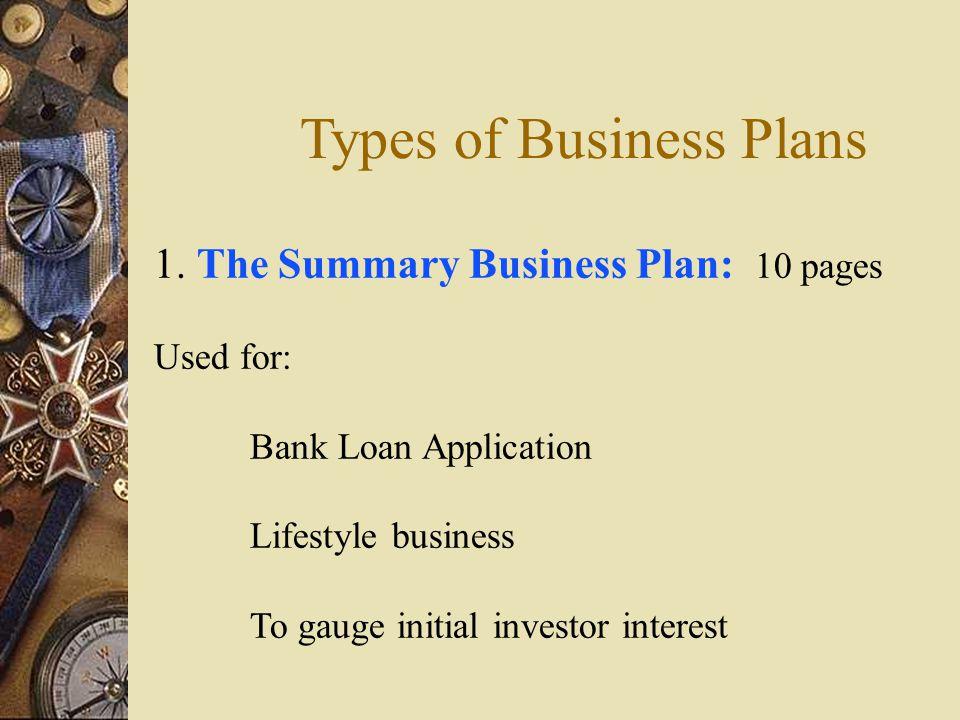 business plan for loan application pdf