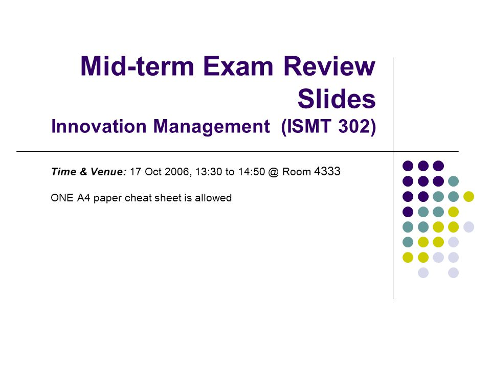 Sample Midterm Exam Essay