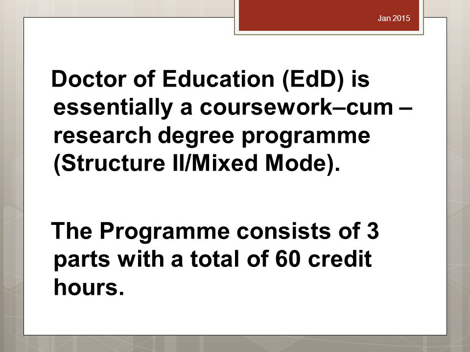 edd no dissertation The capstone of the hgse edd program is the investigation of an important question within the field of education, conducting original research on it, which culminates in a dissertation the program includes three basic phases: the completion of coursework, the qualifying paper phase, and the.
