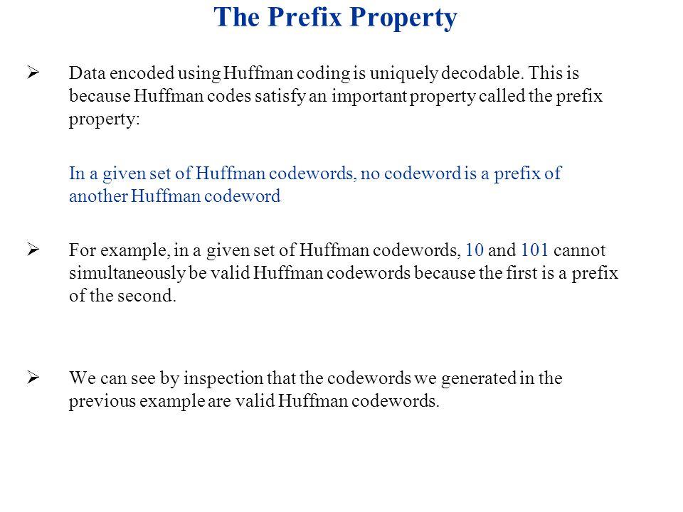 The Prefix Property