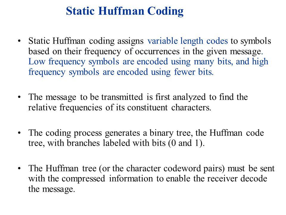 Static Huffman Coding