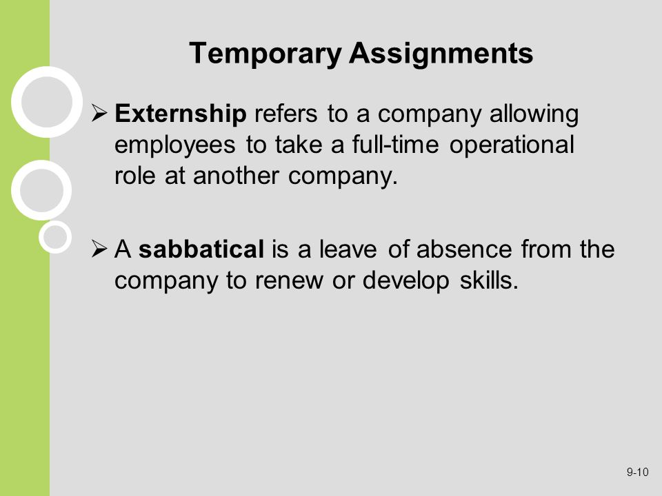 Temporary Assignments