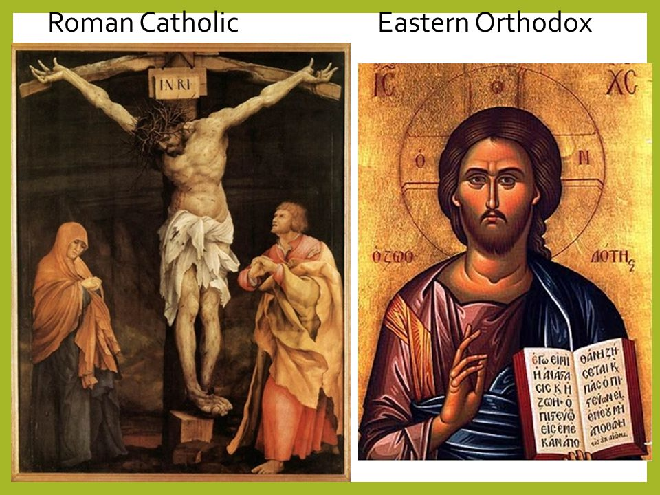 compare and contrast christianity and roman catholic Also, catholics, unlike other christians, believe in a spiritual leader of the roman  catholic church he is known as the pope and regarded as the direct.