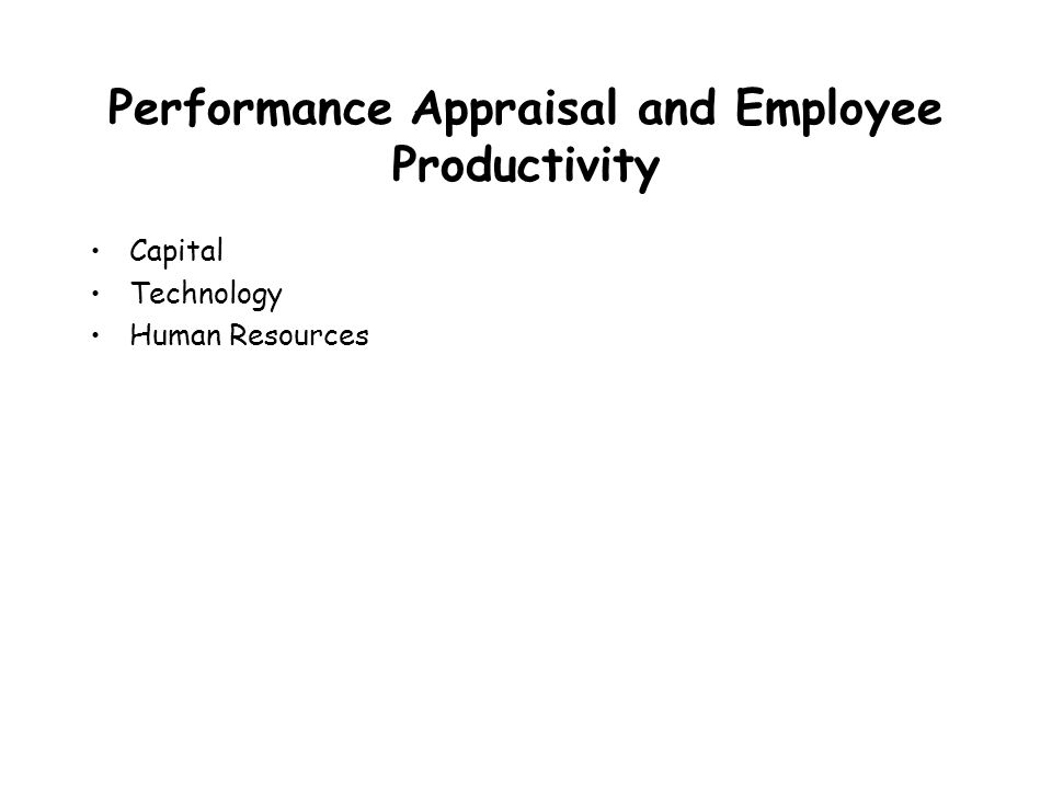 relationship between performance appraisal and employee productivity
